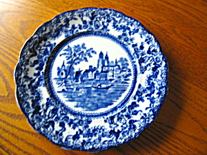 English Transferware Blue & White Plate