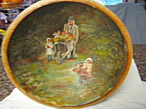 Antique Hand Painted Folk Art Bowl