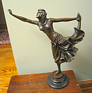 Vintage Art Deco Bronze Belly Dancer