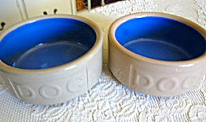 Collectible English Dog Bowls