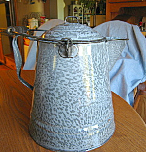 Grey Graniteware Antique Coffee Boiler
