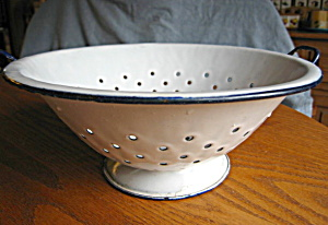 Antique Enamelware Collander
