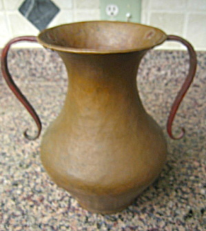 Antique Hammered Copper Vase