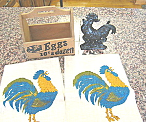 Country Rooster Kitchen Collectibles