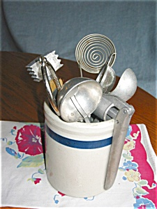 Vintage Crock & Kitchen Gadgets