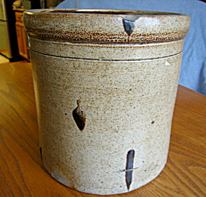 Large Antique Saltglaze Crock