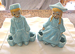 Vintage Dutch People Pottery