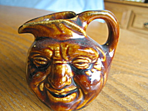 Vintage Miniature Face Jug Pitcher