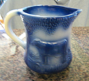 Flow Blue Vintage Pitcher