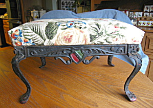 Antique Patented Cast Iron Footstool