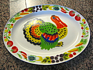 Graniteware Turkey Platter