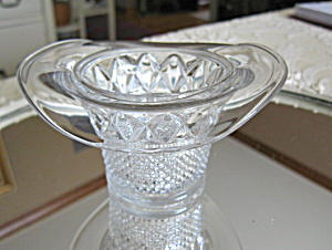 Antique Glass Hat Vase Toothpick