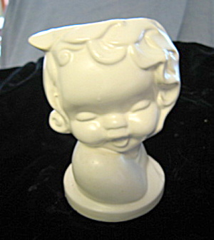 Hull Pottery Cherub Head Vase