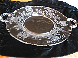 Heisey Glass Orchid Tray Vintage