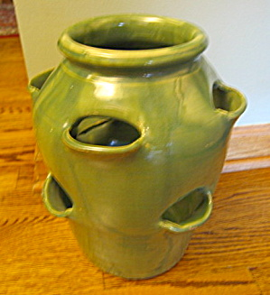 Hand Formed Vintage Herb Jar Large