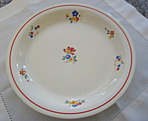 Homer Laughlin Kitchen Bouquet Pie Dish