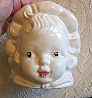 Hull Pottery Child Head Vase