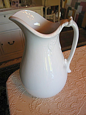 Large Ironstone Antique Pitcher