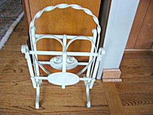 Metal Magazine Rack Vintage