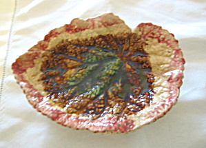 Antique Majolica Leaf Tray