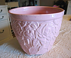 Mccoy Pottery Pink Roses Jardinaire