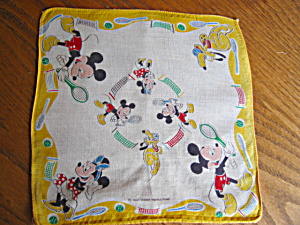 Mickey Mouse Hanky Vintage