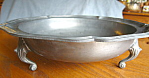 Continental Vintage Pewter Footed Bowl