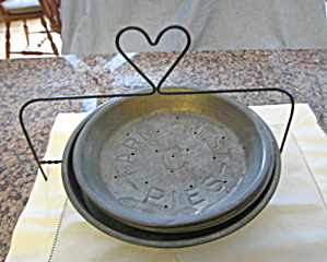 Vintage Pie Dishes W/stand