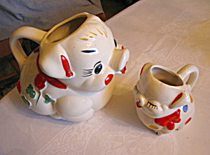 Vintage American Bisque Pig Pitchers