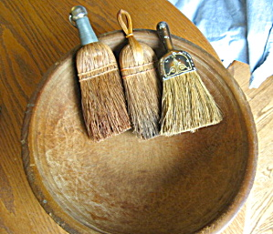 Primitive Brooms And Bowl