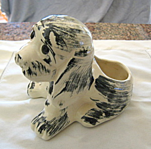 Puppy Pottery Planter Vintage