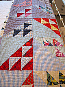 Small Vintage Hand Stitched Quilt