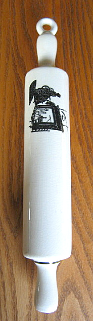 Vintage Ceramic Silouette Rolling Pin