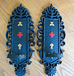 Sexton Vintage Metal Candle Sconces