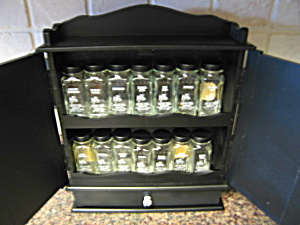 Crystal Foods Spice Jars And Rack