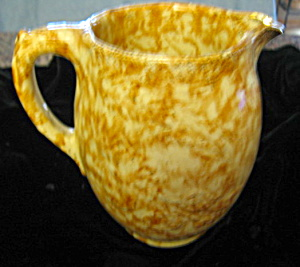 Antique Spongeware Pitcher Brown