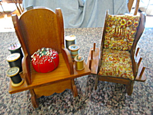 Spool Holder Rocking Chairs Vintage