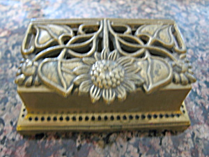 Vintage Brass Stamp Box