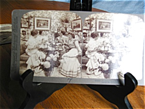 Antique Underwood Stereo Viewer Card - Gossip