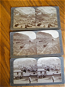 Three Underwood Stereo Viewer Cards
