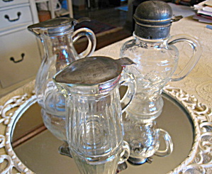 Glass Syrup Pitchers Antique