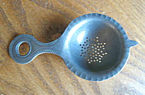 Vintage Pewter German Tea Strainer