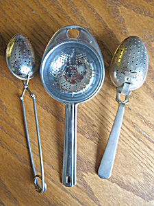 Three Tea Strainers