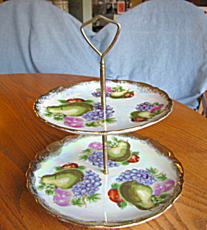 Lustre Fruit Tidbit Vintage Tray