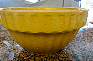 Antiique Yellow Ware Ribbed Bowl