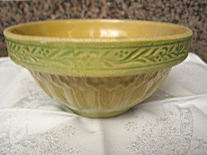 Yellow Ware Antique Bowl