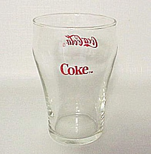 Coca Cola Coke 4 In Advertising Tumber Drinking Glass