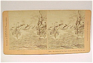 Stereo View Stereoscope Card Stereoview Battle O Manila