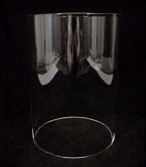 Cylinder 4 5/16 X 6 5/16 In Tube Light Shade Clear Glass Candle Holder