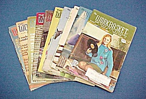 Lot Of 10 Workbasket Magazines Knit Crochet 1969 - 1983
